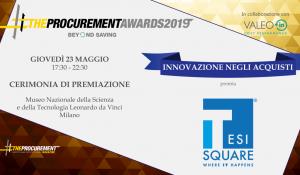 TESISQUARE The Procurement Awards 2019