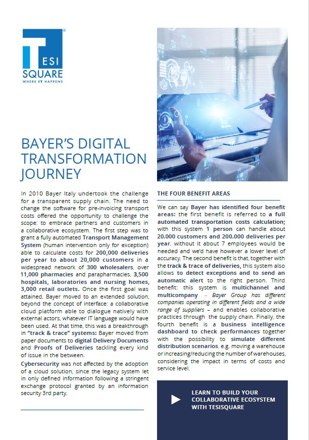 Bayer's Digital Transformation Journey